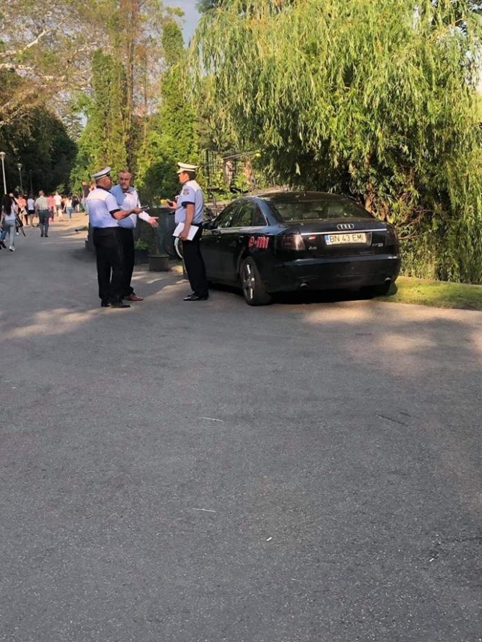 Masina parcata in Parcul Mare
