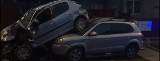 Accident spectaculos provocat de un tânăr fără permis