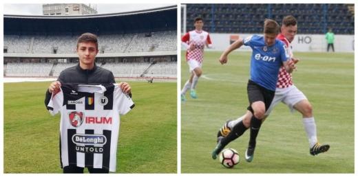 Doi tineri fotbaliști de la Universitatea Cluj, medii de excepție la BAC!