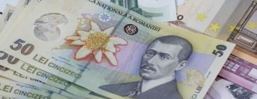 Leul a rămas stabil faţă de euro