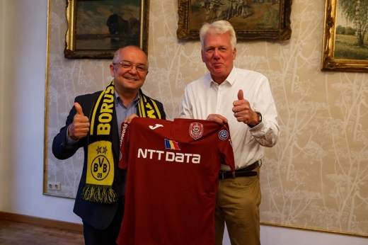 """Primarul din Dortmund, în vizită la Cluj-Napoca: """"Am discutat despre dezvoltarea orașului"""""""
