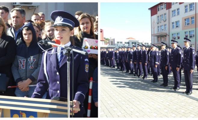 Ei sunt noii agenți de poliție! O tânără a bifat cea mai mare medie de absolvire din istoria școlii clujene