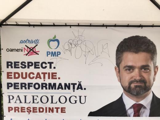 Cortul PMP a fost vandalizat pentru a doua oara la Cluj