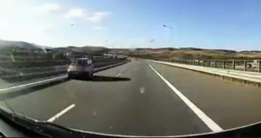 Cu Matizul pe contrasens pe Autostrada Transilvania