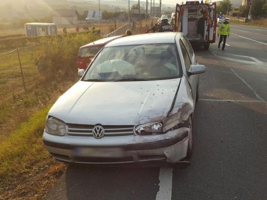 Accident matinal la Vâlcele, două persoane au fost rănite