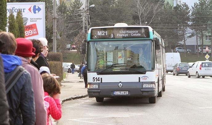 Modificări în traseul liniei M21 dinspre Florești