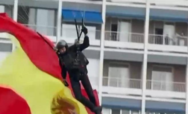 Aterizare ratată la parada de Ziua Națională a Spaniei