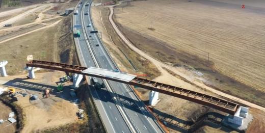 Autostrada A10 a supratraversat Autostrada A1 în două puncte. Cum arată nodul rutier de la Sebeș?, sursă foto: captură video Ziarul Unirea