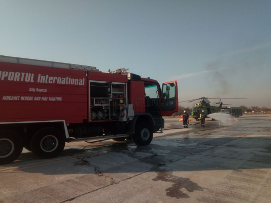 VIDEO Demonstrație de forță la Aeroportul Cluj! Cât de pregătiți suntem pentru o catastrofă aviatică?, sursă foto: Raymond Füstös / Monitorul de Cluj