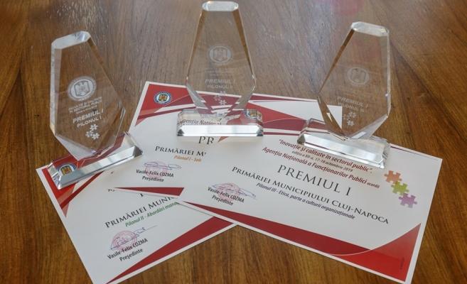 Primăria Cluj-Napoca, laureată cu trei premii I pentru inovație și calitate în sectorul public, sursă foto: Facebook Emil Boc