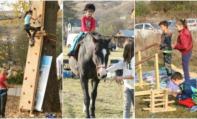 Sporturi montane în Făget! Escaladă, jocuri, tir cu arcul și călărit pentru copiii clujeni