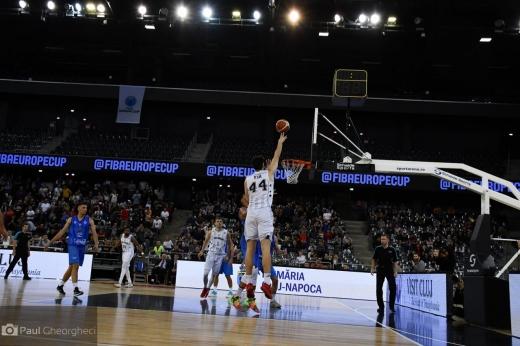 Rareș Uță în FIBA Europe Cup. Paul Gheorgheci / Monitorul de Cluj