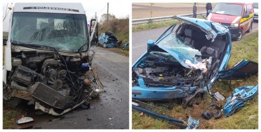 Accident TERIBIL la Plăiești! Mașini făcute praf, o tânără de 21 de ani a pierdut lupta cu viața, sursă foto: ISU și IPJ Cluj