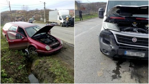 Accident la Cămărașu din pricina neatenției unui tânăr! Un bărbat a ajuns la spital, sursă foto: ISU Cluj