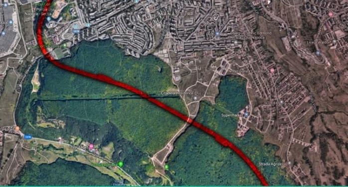 """Cum va afecta Centura Metropolitană viața clujenilor din Mănăștur? """"Separă Pădurea Făget, taie în două Parcul Colina!"""", sursă foto: Facebook Adrian Dohotaru"""