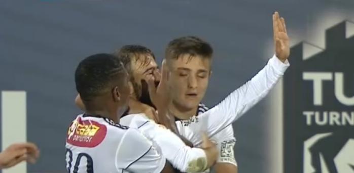 """Remiză în Teleorman! Golul superb al lui Gavra aduce un punct amar pentru """"U"""" Cluj, sursă foto: captură TV Digi Sport 1"""