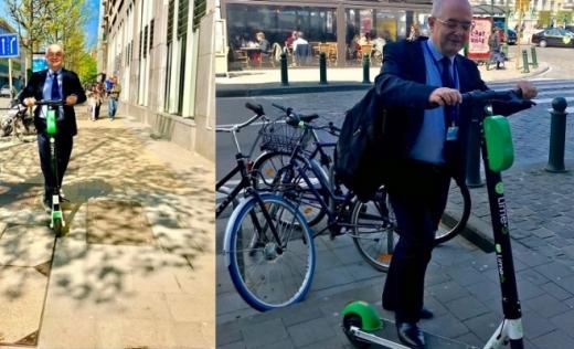 """Boc, aspru cu trotinetele: """"Nu încurajez acest tip de transport până nu se reglementează legal!"""", sursă foto: Facebook Emil Boc"""