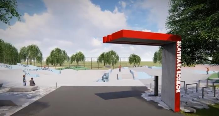 Clujenii iubitori de sporturi extreme vor avea un spațiu sportiv la nivel olimpic: skatepark Rozelor, sursă foto: Facebook Emil Boc