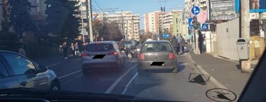 Tâmăr din Franța, lovit din plin de o mașină în timp ce traversa regulamentar strada, sursă foto: Facebook Info Trafic jud. Cluj