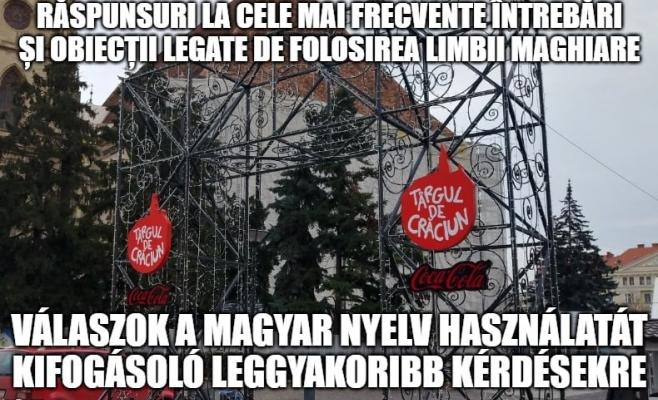 """Nemtetszését fejezte ki a Musai-Muszáj egyesület a kolozsvári karácsonyi vásárral kapcsolatban: """"Nem igaz, hogy nincs hely magyarul is kiírni az üdvözlő feliratokat!"""""""