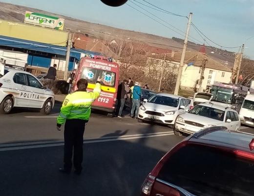"""Accident la podul IRA, patru mașini au fost """"șifonate"""", sursă foto: Facebook Info Trafic jud. Cluj"""