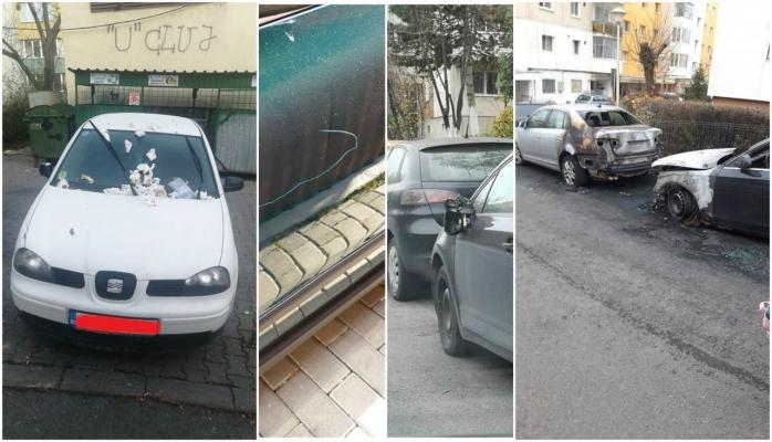 Lipsă de parcări sau de bun-simț? Mașinile cad pradă în Cluj-Napoca în lupta pentru spații!, sursă foto: colaj Facebook Info Trafic jud. Cluj