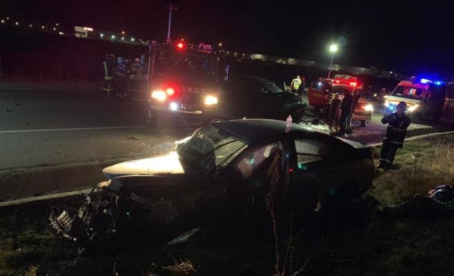Accident ÎNSPĂIMÂNTĂTOR la Jucu! Cinci mașini făcute praf, pasagerii au scăpat ca prin minune, sursă foto: ISU Cluj