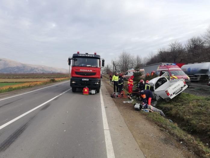ACCIDENT GRAV în Cornești! Două victime în stare foarte gravă. A fost solicitat un ELICOPTER SMURD, sursă foto: ISU și IPJ Cluj