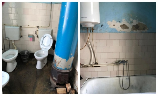 """Baie """"comună"""" la Spitalul de Boli Psihice Borșa: """"Se poate face în grup, poftiți la baie!"""", sursă foto: Facebook Emanuel Ungureanu"""