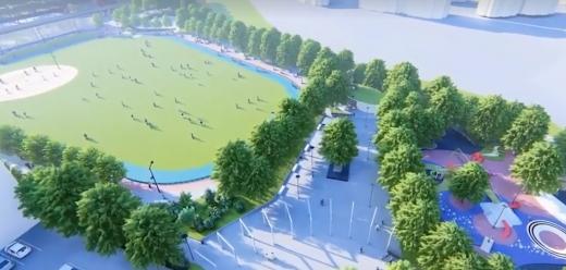 """9 mil. € pentru Baza Sportivă """"La Terenuri"""" din Mănăștur, cel mai modern centru de agrement, sursă foto: captură video Facebook Emil Boc"""