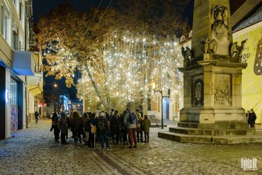 """Elevii din comunele clujene au vizitat instalațiile de lumină Lights On Romania. Andi Daiszler: """"Privirea din ochii lor era aer curat!"""", sursă foto: Facebook Lights On Romania"""