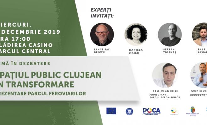 Spațiul public clujean în transformare. Ce planuri au arhitecții Clujului cu Parcul Feroviarilor?