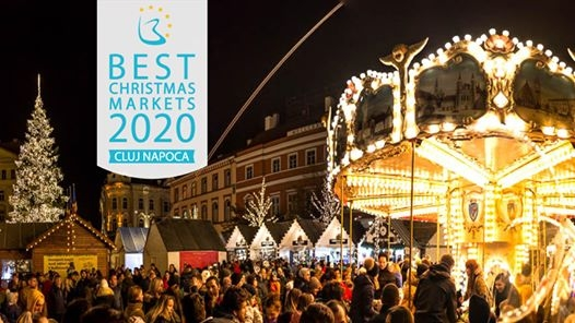 Pentru al doilea an consecutiv, Târgul de Crăciun din Cluj-Napoca este în Top 10!, sursă foto: Facebook Târgul de Crăciun Cluj-Napoca