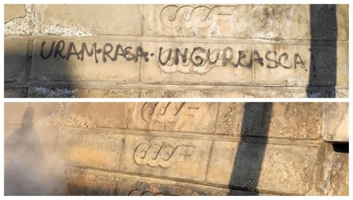 """Eltávolították a magyarellenes graffitit: """"Takarítsuk ki együtt a gyűlöletet Kolozsvárról!"""""""