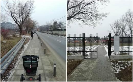 """S-au """"deschis porțile"""" spre Sopor. Clujenii au trotuar spre """"primul cartier construit de la 0"""", sursă foto: Facebook SOS Parcul Est"""