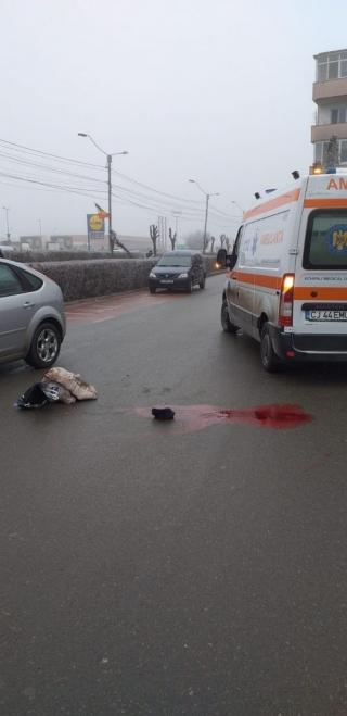 Accident MORTAL în Turda! O bătrănă, LOVITĂ de mașină în timp ce traversa neregulamentar, sursă foto: ISU Cluj