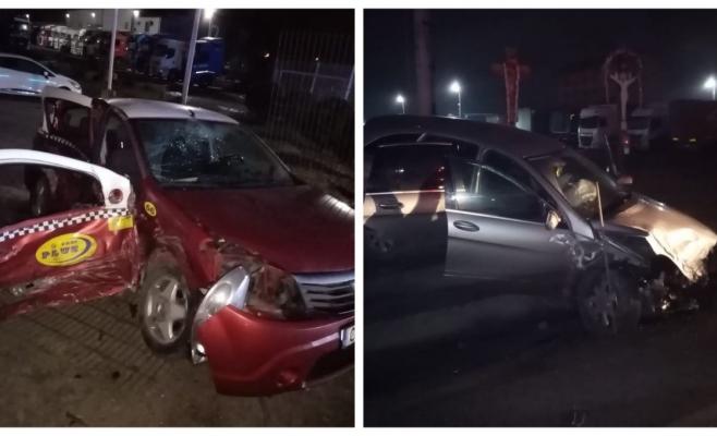 La un pas de tragedie în Gilău! Trei victime au ajuns la spital după un accident produs din cauza vitezei, sursă foto: IPJ Cluj