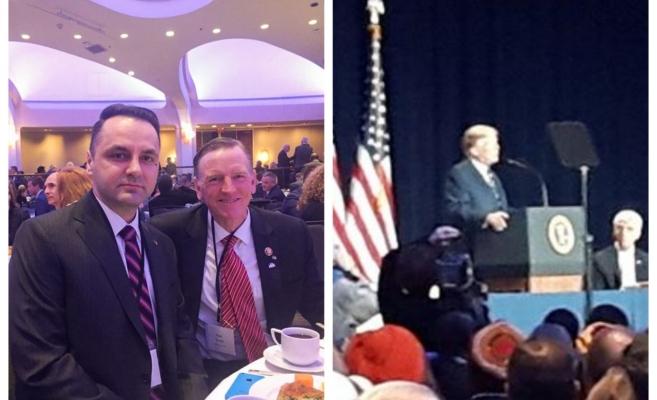 Senator clujean la Washington, la masă cu Donald Trump de National Prayer Breakfast, sursă foto: Facebook Cristian Vasile Lungu