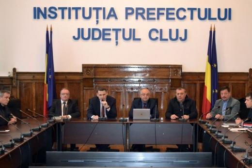 """Centura Metropolitană. Boc și Șulea, întâlnire cu prefectul: """"Proiectul avansează cu pași concreți!"""", sursă foto: Prefectura Cluj"""