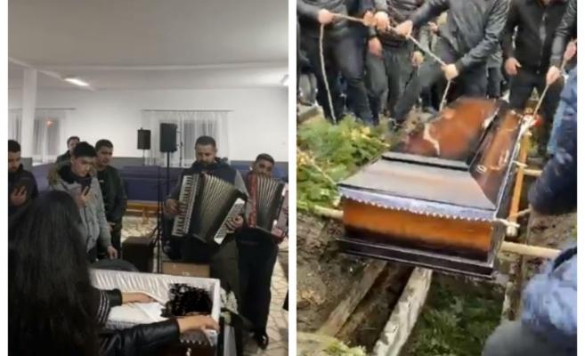 Râuri de lacrimi la Bistrița. Tânărul decedat în accidentul de pe Horea, condus pe ultimul drum, sursă foto: captură video Facebook Alvostru M. Dorin