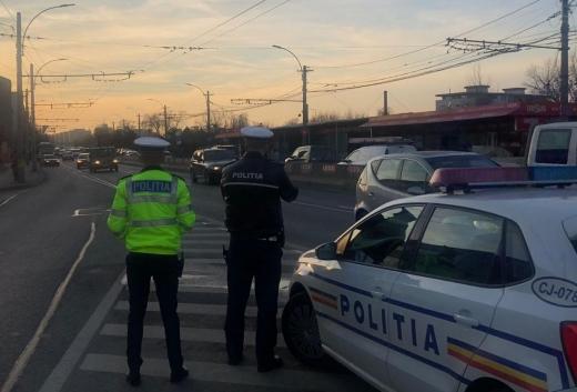 Peste 200 de șoferi verificați de polițiștii clujeni. Jumătate dintre ei s-au ales cu sancțiuni, sursă foto: IPJ Cluj