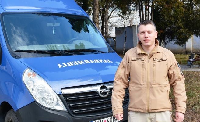 Cosmin Covaciu, jandarm clujean decorat de Armata SUA