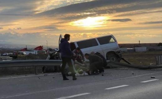 GRAV accident pe varianta Bld. Muncii-Apahida, sursă foto: Facebook Info Trafic jud. Cluj