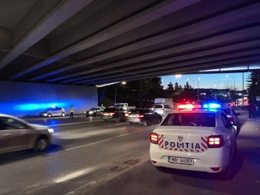 Acțiune polițiști clujeni împotriva șoferilor vitezomani