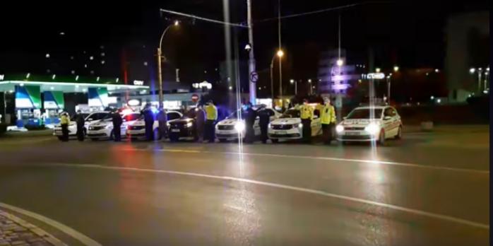 Imnul României a răsunat pe mașinile de poliție