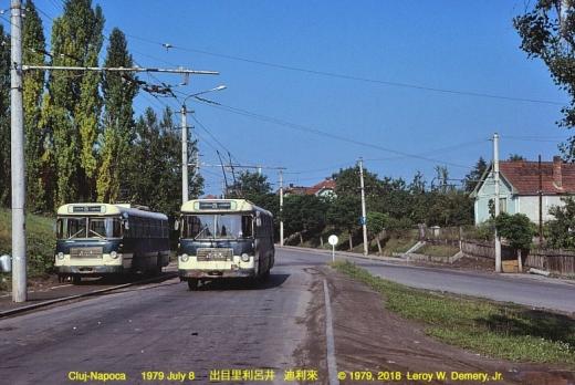 Foto: Leroy W. Demery, Jr. Cum arătau autobuzele din Cluj-Napoca în urmă cu mai bine de 40 de ani