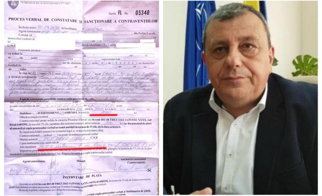 """Se întâmplă la Florești! Amendat de Poliția Locală pentru că l-a făcut """"netrebnic"""" pe primarul Șulea"""