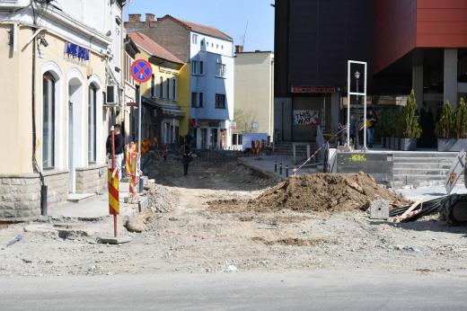 Foto: Paul Gheorgheci/monitorulcj.ro  Strada Tipografiei, în plin șantier după cinci licitații
