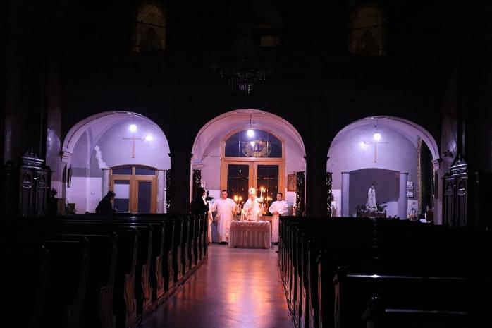 """Utrenia Învierii, celebrată la Catedrala greco-catolică: """"Biserica e goală, dar plină de lumină"""" FOTO, sursă foto: Episcopia Cluj-Gherla"""