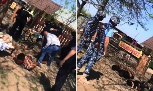 Abuz GRAV al Poliției Române! Mai mulți rromi, bătuți fără milă după ce au fost încătușați. VIDEO